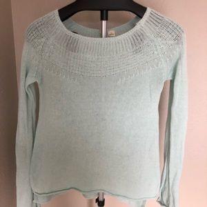 Anthro Moth light blue long sleeve knit sweater